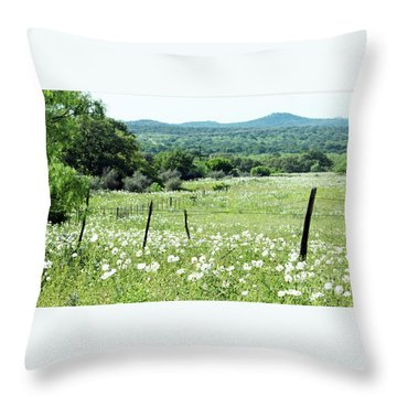 Throw Pillow featuring the photograph Done In White by Joe Jake Pratt