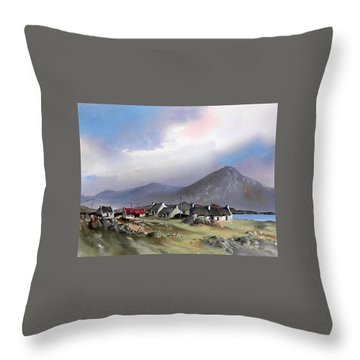 Galway..storm Over The Diamond Hill Throw Pillow