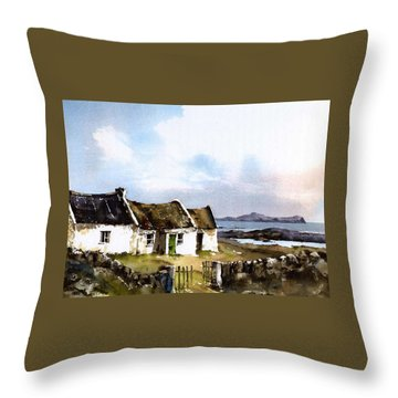 Donegal... Towards Owey Island Throw Pillow