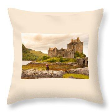 Donan Castle Throw Pillow