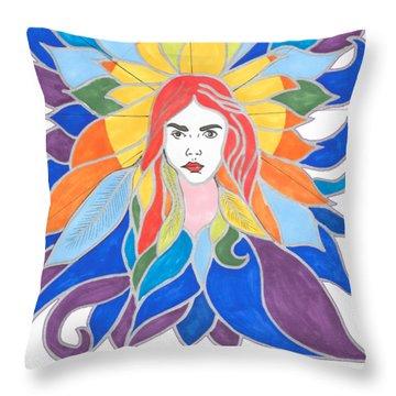 Donna Soul Portrait Throw Pillow