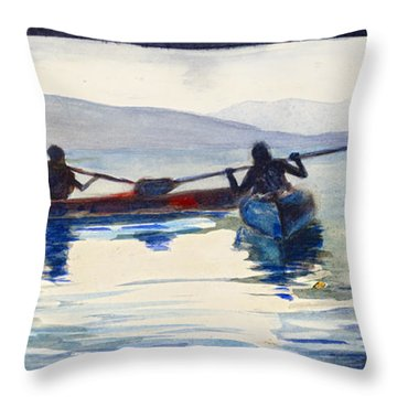 Donner Lake Kayaks Throw Pillow