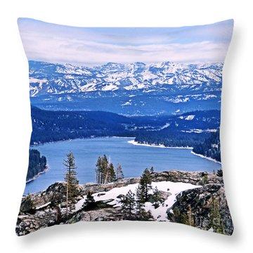 Donner Lake Throw Pillow