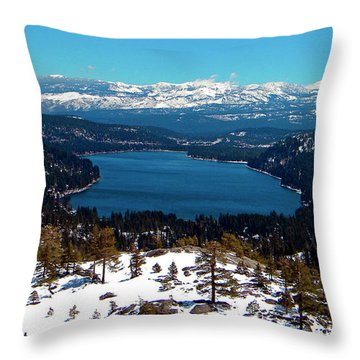 Donner Lake Sierra Nevadas Throw Pillow