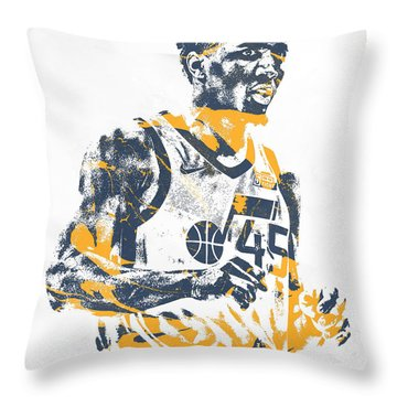 Donovan Mitchell Utah Jazz Pixel Art 11 Throw Pillow