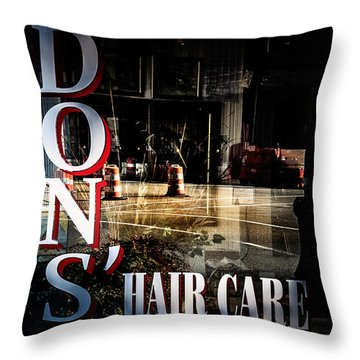 Don's Reflections  Throw Pillow by Phillip Burrow