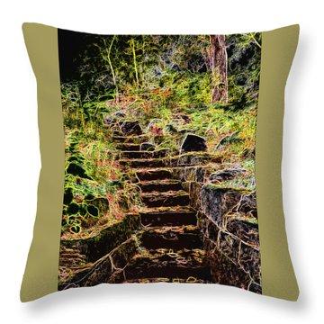 Don't Be Afraid Throw Pillow by Carol Crisafi
