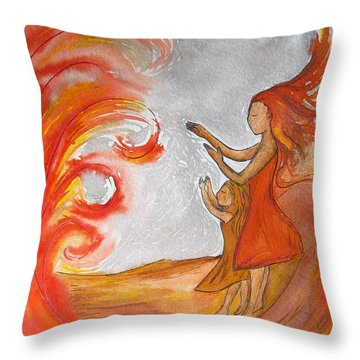 Don't Be Afraid Throw Pillow by Gioia Albano