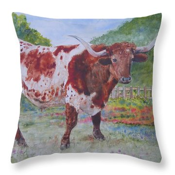 Don't Eat The Bluebonnets Throw Pillow