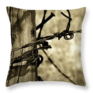 Don't Fence Me In 2 Throw Pillow