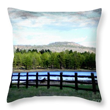 Throw Pillow featuring the photograph Don't Fence Me In by Beauty For God