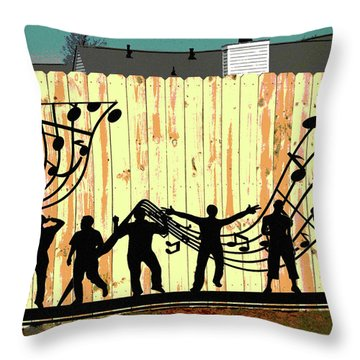Don't Fence Me In Throw Pillow by Charles Shoup