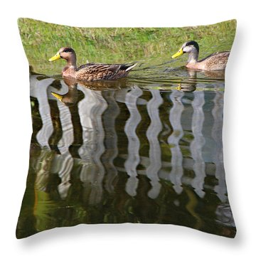 Don't Fence Us In Throw Pillow by Kathy M Krause