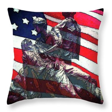 Don't Forget Our Nurses Throw Pillow