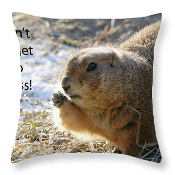 Dont Forget To Floss Throw Pillow by Karol Livote