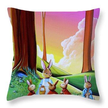 Don't Go Into Mr Mcgregors Garden Throw Pillow