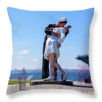Don't Kiss In Public Throw Pillow
