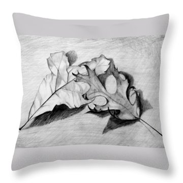 Don't Leaf Me Throw Pillow by Jean Haynes