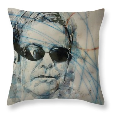 Throw Pillow featuring the painting Don't Let The Sun Go Down On Me  by Paul Lovering