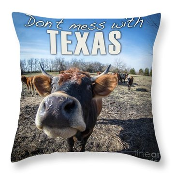 Don't Mess With Texas Throw Pillow