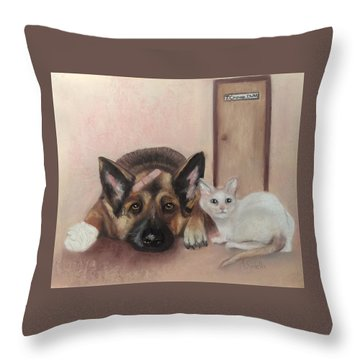 Don't Mess With The Cat  Throw Pillow