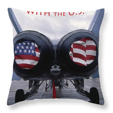 Don't Mess With The U. S. Throw Pillow