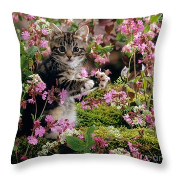 Don't Pick The Flowers Throw Pillow
