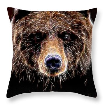 Throw Pillow featuring the digital art Don't Run by Aaron Berg