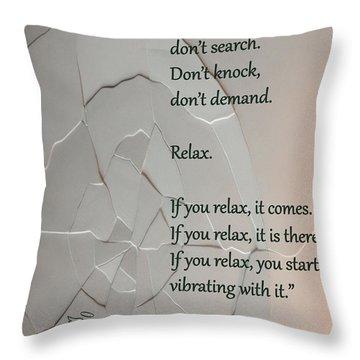 Don't Seek Throw Pillow