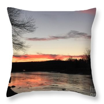 Don't  T 'red' On Thin Ice Throw Pillow by Jason Nicholas