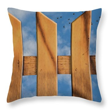 Don't Take A Fence Throw Pillow by Paul Wear