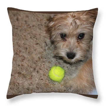 Don't Take My Ball Throw Pillow