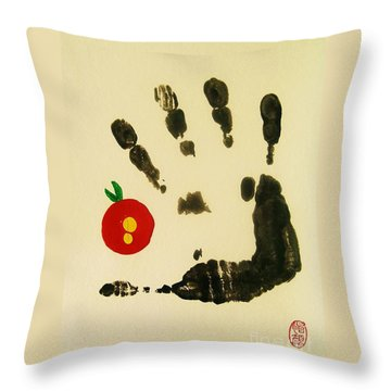 Throw Pillow featuring the painting Don't Touch Me by Roberto Prusso