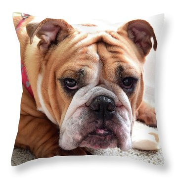 Don't Touch My Bone Throw Pillow