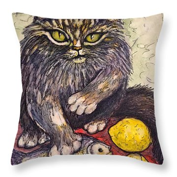 Don't Touch My Lunch Throw Pillow
