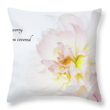 Throw Pillow featuring the photograph Don't Worry by Mary Jo Allen