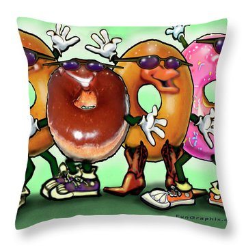 Donut Party Throw Pillow
