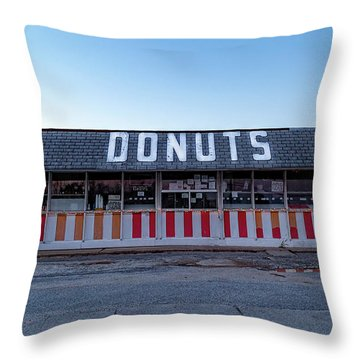 Donut Shop No Longer 3, Niceville, Florida Throw Pillow