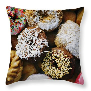 Donuts Throw Pillow by Vivian Krug Cotton