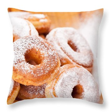 Krapfen Throw Pillows