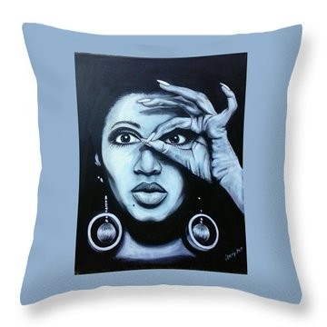 Donyele Throw Pillow by Jenny Pickens