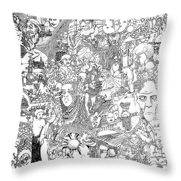 Doodle Art 1987 Throw Pillow