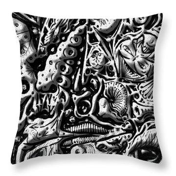 Doodle Emboss Throw Pillow