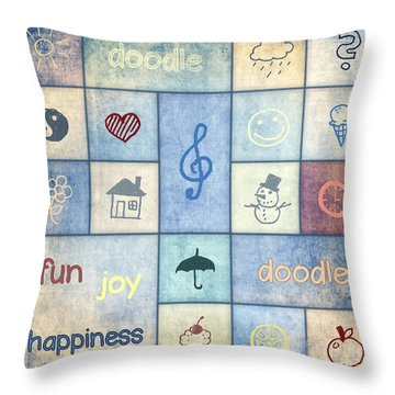 Doodle Throw Pillow by Jutta Maria Pusl