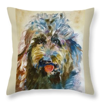 Doodle Throw Pillow by Khalid Saeed