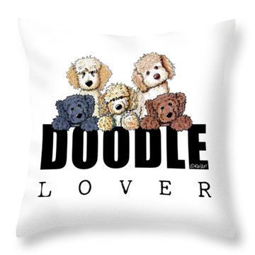 Doodle Lover Throw Pillow by Kim Niles