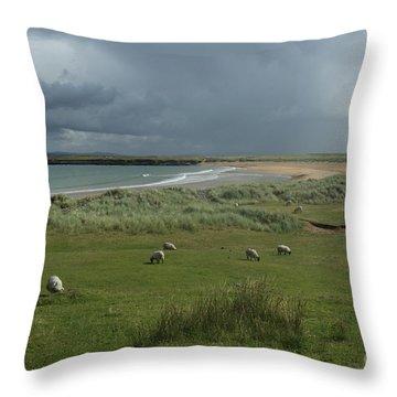 Doogh Beach Achill Throw Pillow