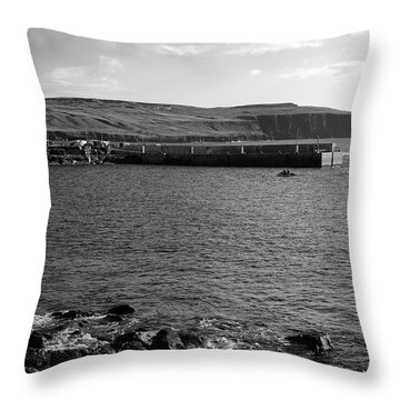Doolin Harbour Throw Pillow