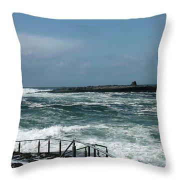 Doolin Waves Throw Pillow