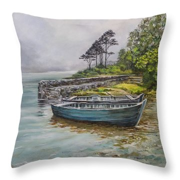 Doolough View Throw Pillow by Marty Garland